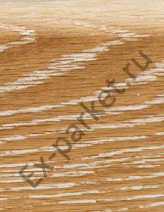 Деревянный плинтус массивный Magestik Floor Дуб Беленый (прямой, брашированный)