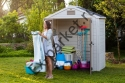 Пластиковые сараи, хозблоки и гаражи из пластика