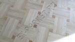 Укладка художественного паркета, рисунок плетёнка с мелкой вставкой мербау, без покрытия.