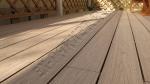 монтаж с использованием декинга Good Cover 22мм, веранда перед входом в дом