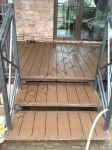 Монтаж и укладка декинга из ДПК на лестницах