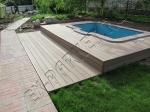 монтаж террасной доски Good Cover линейки Стандарт вокруг бассейна и рядом с бассейном