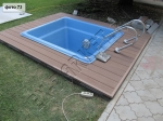 мини бассейн с использованием декинга