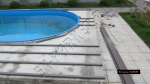 монтаж вокруг бассейна с использованием террасной доски Polywood