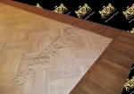 Паркет дуб, укладка художественного паркета — рисунок шашка, монтаж по диагонали