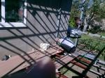 Монтаж террасной доски из ДПК Good Cover на ранее подготовленное основание в виде беседки пристроенной к частному домику