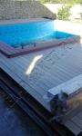 Монтаж, укладка декинга из ДПК Good Cover вокруг бассейна и рядом с бассейном