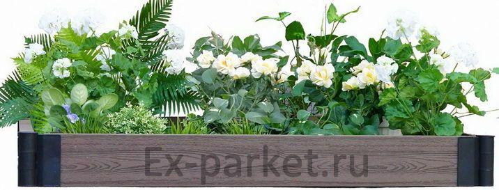 Ограждения из ДПК Holzhof для грядок, клумб, цветочниц