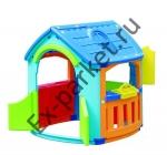 Игровой домик кухня + гараж Marian Plast (665)