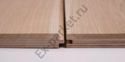 Многослойный пол, верхний слой (5,7 мм) на фанерной основе (9мм или 12мм)