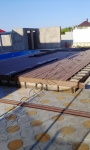 монтаж террасной доски Экодек вокруг мини-бассейна и рядом