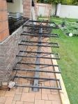 Сварочные работы, подготовка лестницы для веранды террасы