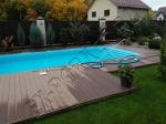Монтаж террасной доски из ДПК Good Cover вокруг бассейна