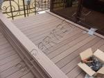 Монтаж террасной доски из ДПК Good Cover на веранде