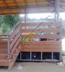 Монтаж/обустройство с помощью террасной доски из ДПК, декоративное ограждение веранд-террас