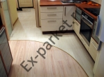 Ламинат на кухни в интерьере