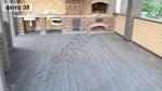 Монтаж беседки-веранды с использованием бесшовной террасной доски СэйвВуд Улмус тёмно-коричневый