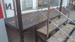 Террасная доска SW Salix 163х25мм цвет коричневый. Монтаж перед входом в мебельную студию.