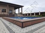 Монтаж декинга Гуд Ковэр Стандарт 22мм цвет коричневый вокруг бассейна