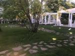 Турбаза Волжино - монтаж беседок из декинга и ландшафтного освещения