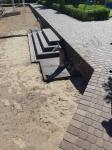 Турбаза Волжино - монтаж террасной доски ДПК, выход на пляж и возле моек