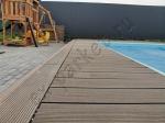 Монтаж террасной доски и ступеней из ДПК Good Cover вокруг и рядом с бассейном