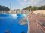 Монтаж террасной доски из ДПК в аквакомплексе NOVA PARADISE