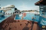 Уложенная террасная доска из ДПК Good Cover в деле (аквакомплекс Nova Paradise)