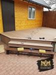 Укладка террасной доски из древесно-полимерного композита на крыльце + лестнице Good Cover