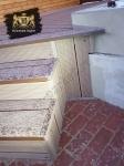 Монтаж ДПК на лестницу возле крыльца