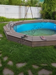 Монтаж террасной доски из ДПК на бассейн